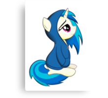 Vinyl Scratch - Lost in Thought Print Canvas Print