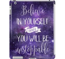 Believe In Yourself Quote iPad Case/Skin