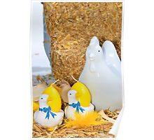 Easter, chicken and egg decoration Poster