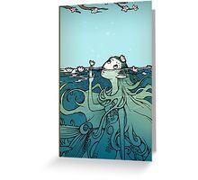 Spring Mermaid Greeting Card