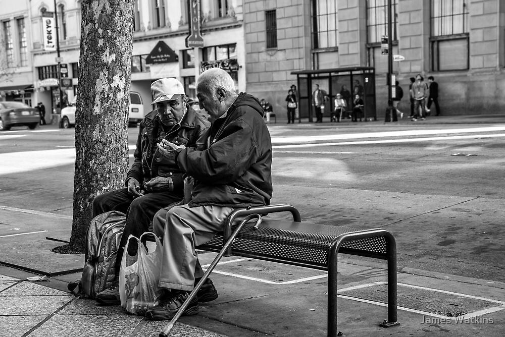 The Bus Stop Conversation by James Watkins
