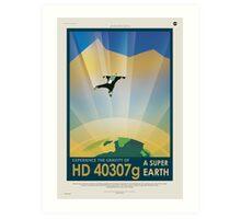 HD 40307g Space Mars Travel Poster Art Print