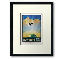 HD 40307g Space Mars Travel Poster Framed Print