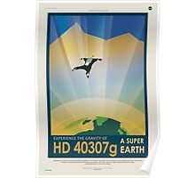 HD 40307g Space Mars Travel Poster Poster