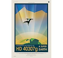 HD 40307g Space Mars Travel Poster Photographic Print