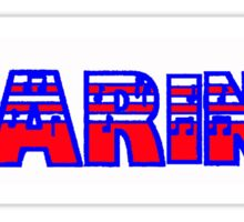Clarinet Red White & Blue I Sticker