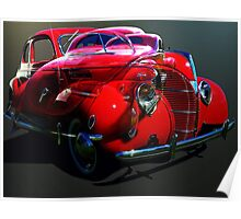 Red Ford Coupe Poster