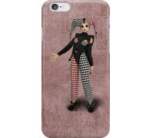Harlequin Red Black iPhone Case/Skin