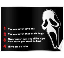 Scream: Randy's rules Poster