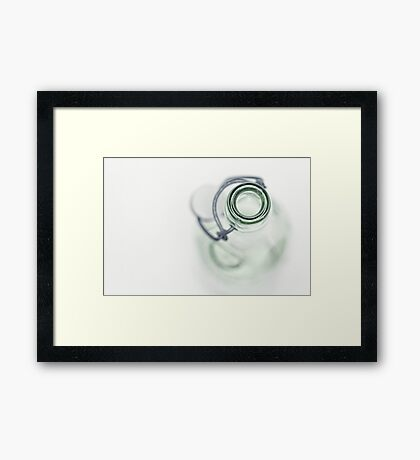 Empty bottle.... Framed Print