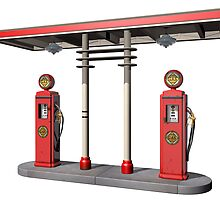 Vintage Gas Pumps by Paul Fleet