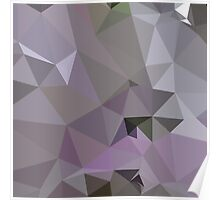 Antique Fuchsia Purple Abstract Low Polygon Background Poster