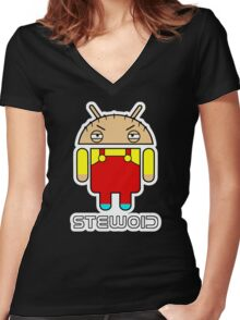 Stewoid Women's Fitted V-Neck T-Shirt