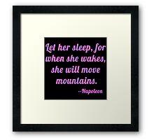 Shakespeare Let Her Sleep Framed Print