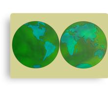 world map1 Canvas Print
