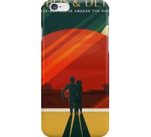 Moons of Mars Travel Poster iPhone Case/Skin
