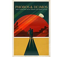Moons of Mars Travel Poster Photographic Print