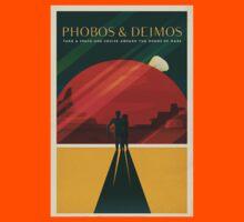 Moons of Mars Travel Poster Kids Tee
