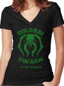 GOLGARI SWARM Women's Fitted V-Neck T-Shirt