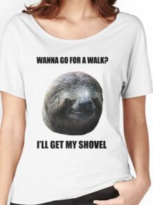 Evil Sloth Walk Women's Relaxed Fit T-Shirt