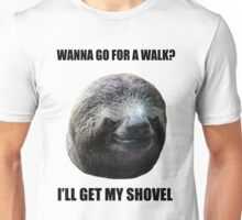 Evil Sloth Walk Unisex T-Shirt