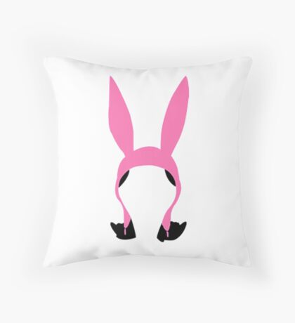 Top Seller - Louise Belcher: Silhouette Style  Throw Pillow