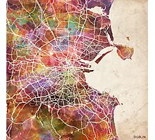 Dublin map Photographic Print