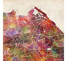 Edinburgh map Photographic Print
