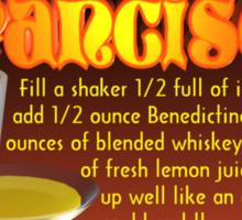 San Francisco drink recipe by Valxart.com  Sticker