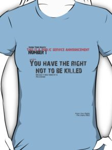 """""""Know Your Rights"""" The Clash (Number 1) T-Shirt"""