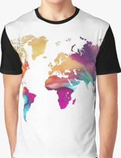 World map watercolor  Graphic T-Shirt