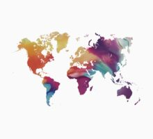 World map watercolor  Kids Tee