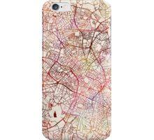 Birmingham map watercolor iPhone Case/Skin