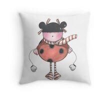 Lily Ladybird Throw Pillow