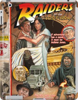 """Raiders of the Lost Ark, """"Circus Style"""" poster by Adam McDaniel"""