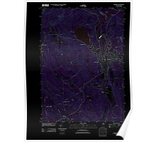 USGS TOPO Map New Hampshire NH Franklin 20120608 TM Inverted Poster