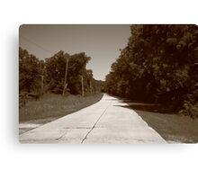 Missouri Route 66, 2012, Sepia. Canvas Print