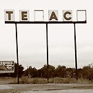 Route 66 - Abandoned Texaco Station by Frank Romeo
