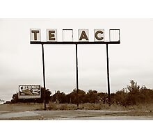 Route 66 - Abandoned Texaco Station Photographic Print