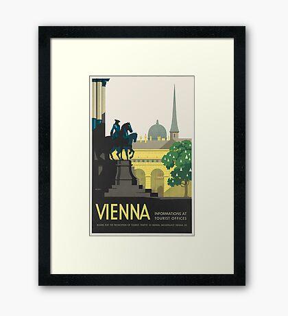 Vintage poster - Vienna Framed Print