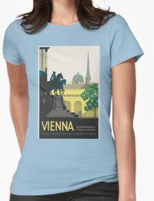 Vintage poster - Vienna Womens Fitted T-Shirt
