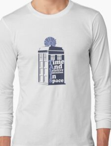 Time And Relative Dimension In Space Long Sleeve T-Shirt