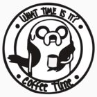 Coffee Time with Jake - Black & White by paperboyjim