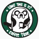 Coffee Time with Jake - Green &amp; White by paperboyjim