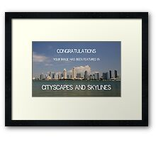 CITYSCAPES AND SKYLINES BANNER Framed Print