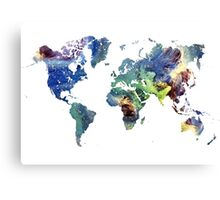 World map cosmos Canvas Print
