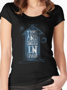 My Little Tardis Women's Fitted Scoop T-Shirt