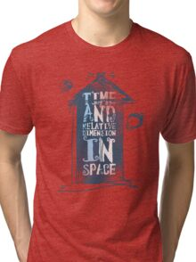 My Little Tardis Tri-blend T-Shirt