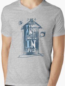 My Little Tardis Mens V-Neck T-Shirt