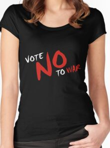 Vote NO To War Women's Fitted Scoop T-Shirt